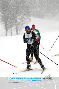 Im Schneesturm - Ramsau Marathon 2012
