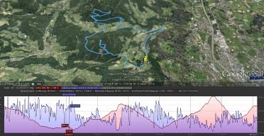 Gaisberg Trail in Google Earth