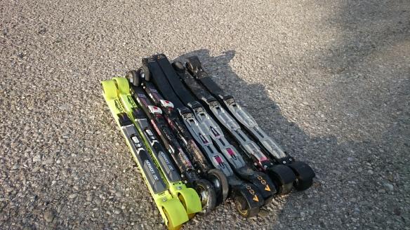 skiroller-Familie