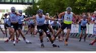 Zielsprint beim Sprintrennen