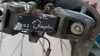 Simplex Schaltwerk. Der Marktführer vor Shimano